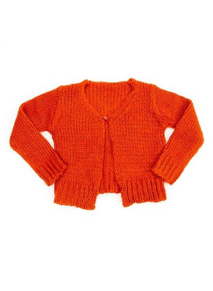 OUTLET // loose cardigan Eloise knit - hazelnut