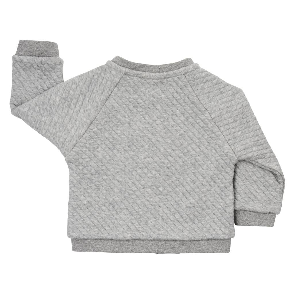 bomber jacket - chunky grey