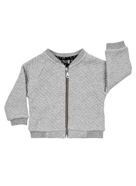 bomber jacket - chunky grey