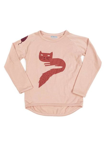 OUTLET // t-shirt Nuria old pink - cat and mouse