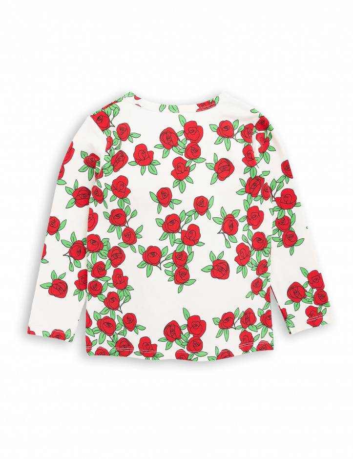 long sleeve rose - offwhite