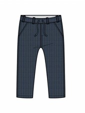 pants straight - knitted blue