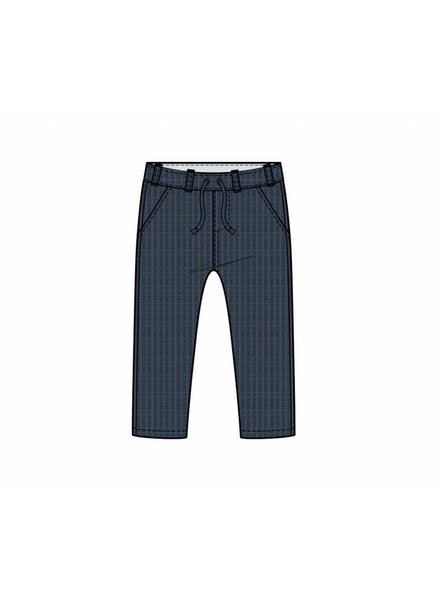 OUTLET // pants straight - knitted blue