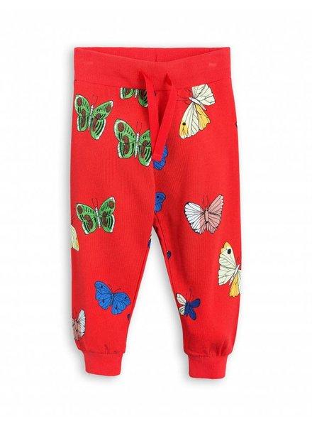 sweatpants butterflies - red