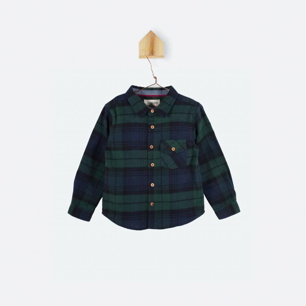 chemise - carreaux ecossais - vert