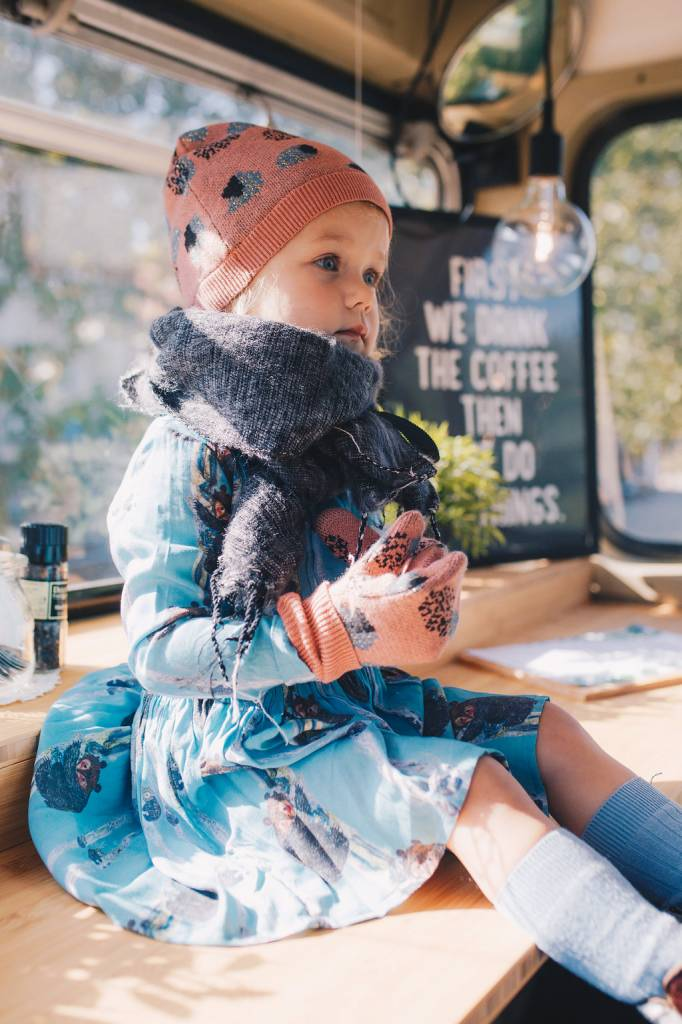 Morley -  dress Garance teddy sapphire