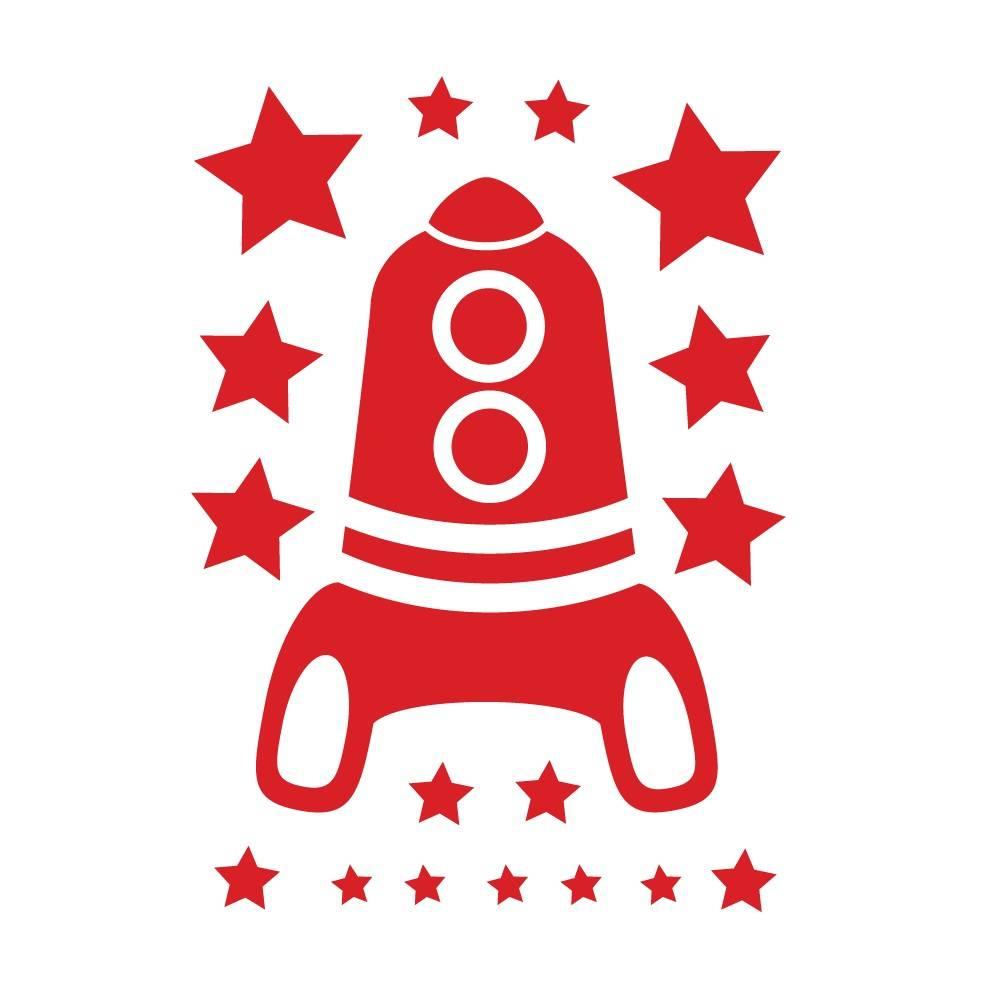 Muursticker - Rocket