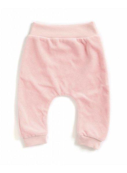 baggypants velours - roze