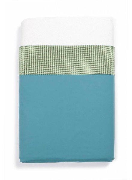 OUTLET // laken aqua/groen (120x 150cm)