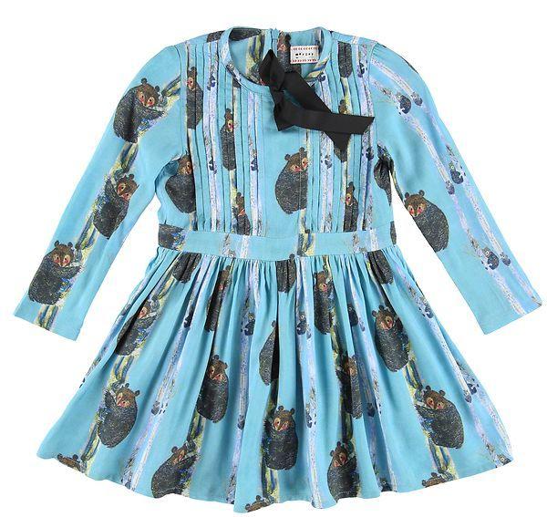 OUTLET // dress Garance teddy sapphire