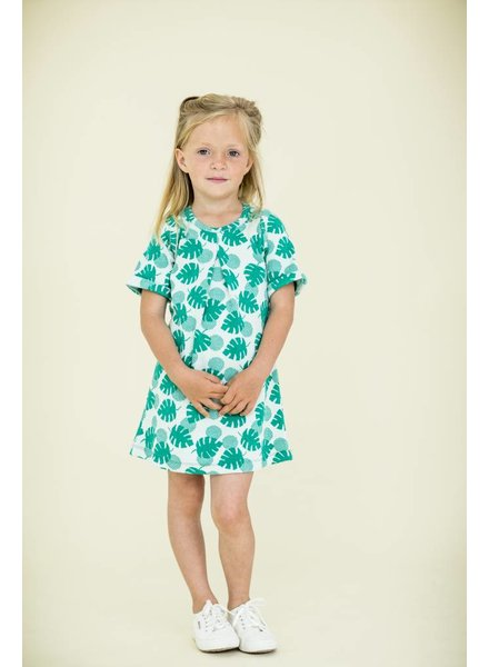 dress Lois - palm leaves
