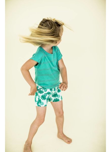 shorts Hailey - palm leaves