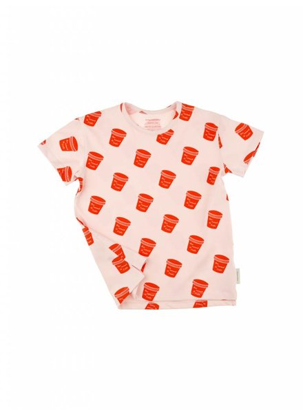 t-shirt pots - light pink/carmin