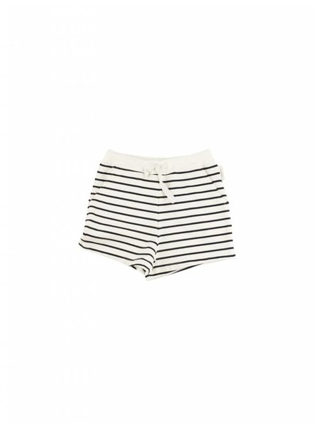 OUTLET // short small stripes - off white/navy