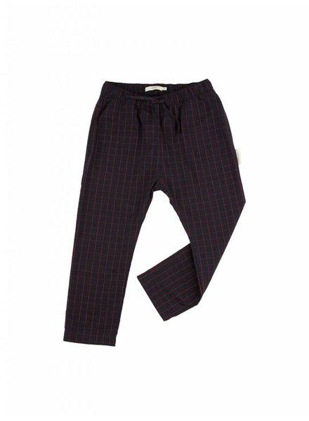 OUTLET // pants grid - navy/carmin