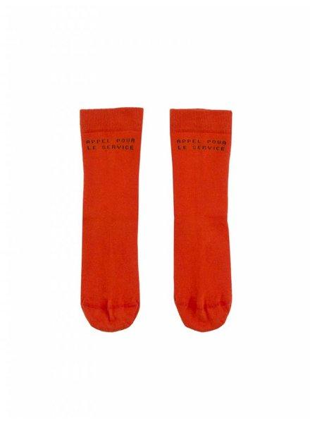 socks 'appel pour le service' - carmin/navy