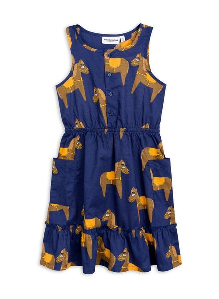 OUTLET // dress flounce horses - navy