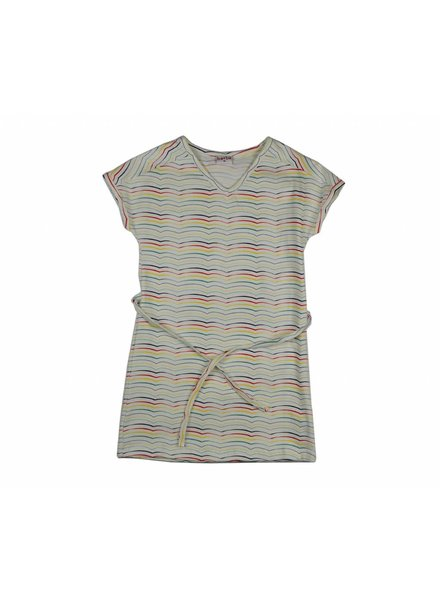 Baba V-neck dress - stripes