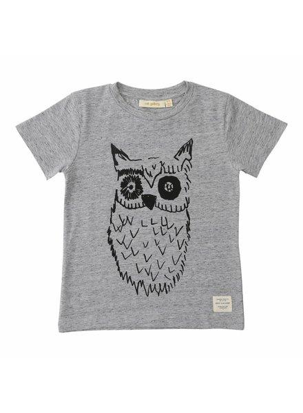 t-shirt Bass big owl black - grey melange
