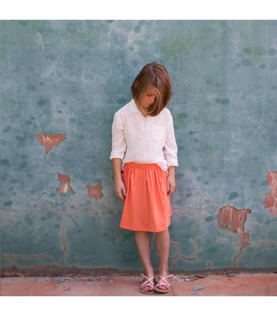 jupe poches - orange