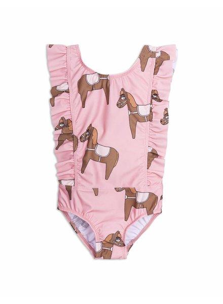 swimsuit - ruffled horse