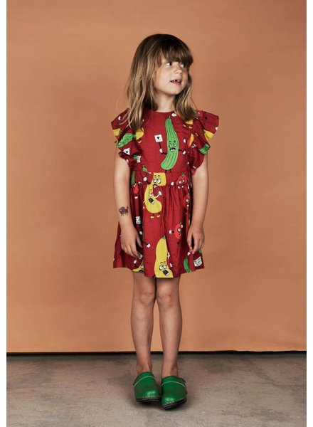 OUTLET // dress ruffled - veggie red
