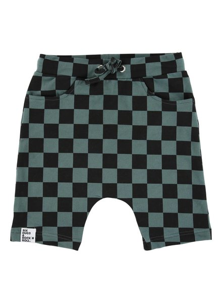 baggy shorts - checkers