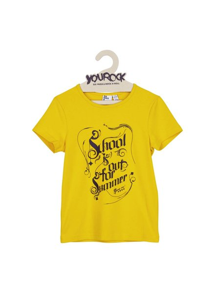 t-shirt - school is out yellow