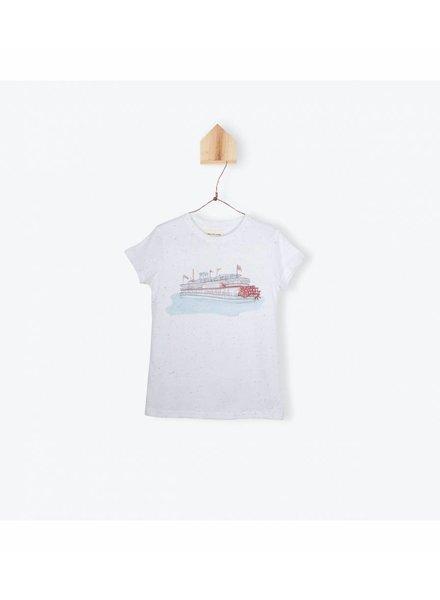 t-shirt dupion bateau - blanc
