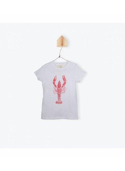 OUTLET // t-shirt dupion langouste - blanc