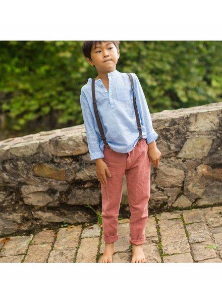 pantalon bretelles - bordeaux