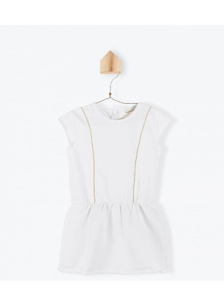 robe lurex - blanc