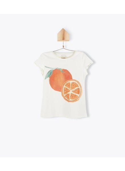 t-shirt MC fruits - ecru