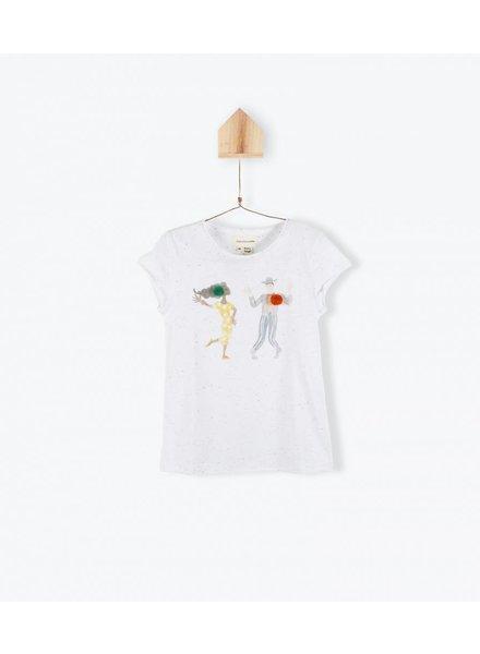 OUTLET // t-shirt MC danseurs cha cha - blanc