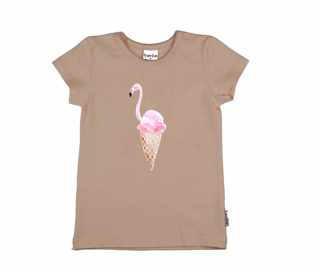 t-shirt flamingo - pink