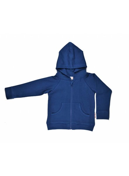 OUTLET // hoodie - double knitted blue