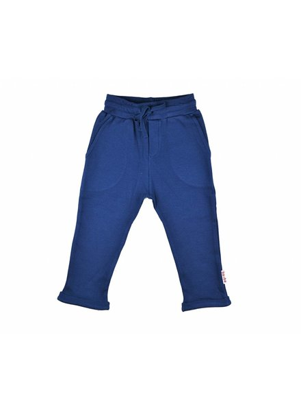 OUTLET // baggy pants - double knitted blue