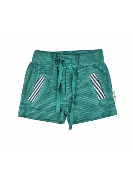OUTLET // short pants - double knitted green
