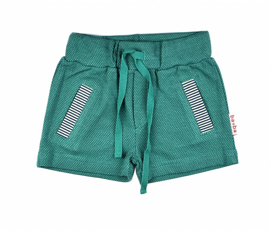 short pants - double knitted green