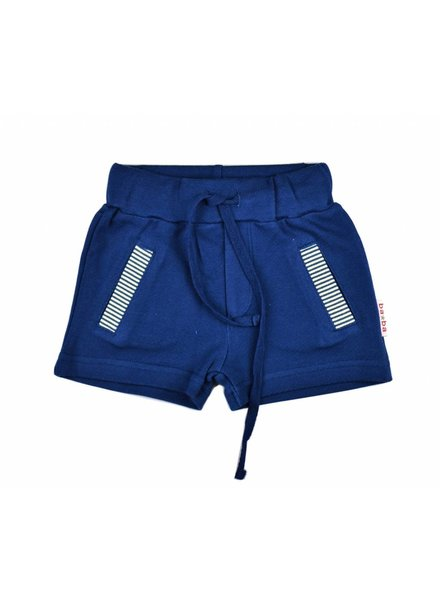 short pants - double knitted blue