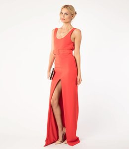 SOLACE London % Rotes Sexy Abendkleid
