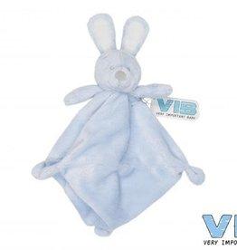 VERY IMPORTANT BABY Knuffeldoekje konijn Blauw