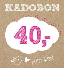Bo en Belle Kadobon 40 euro