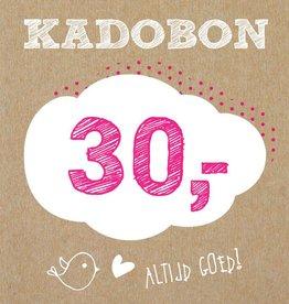 Bo en Belle Kadobon 30 euro
