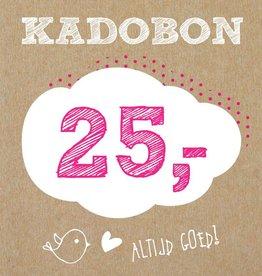 Bo en Belle Kadobon 25 euro