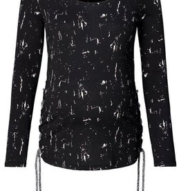Supermom Shirt Marble zwart