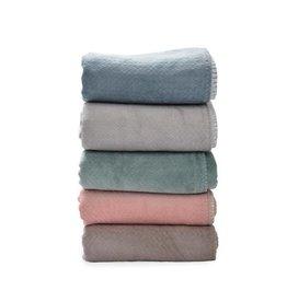 Lodger Ledikantdeken flannel diverse kleuren