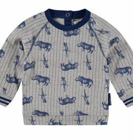noppies baby Sweat shirt Leander blauw/grijs