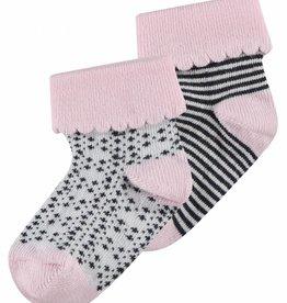 noppies baby Sokken 'Kaltag' roze 2-pack