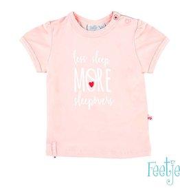 Feetje Shirt 'less sleep, more sleepovers' roze